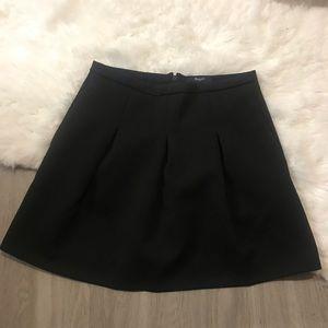 Madewell Black Pleated Mini Skirt Size 6